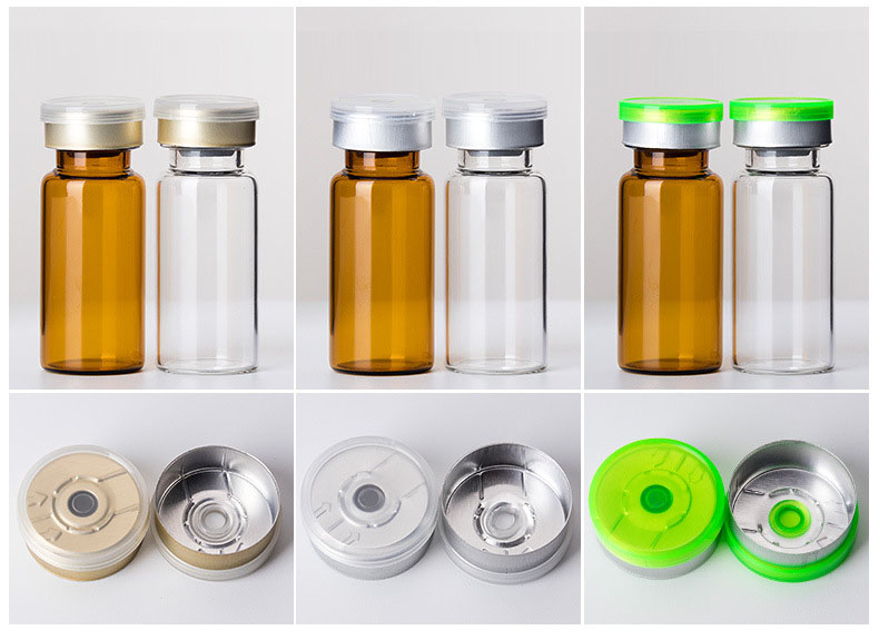 2ml to 30ml crimp neck glass vials with filp top lid  (4)