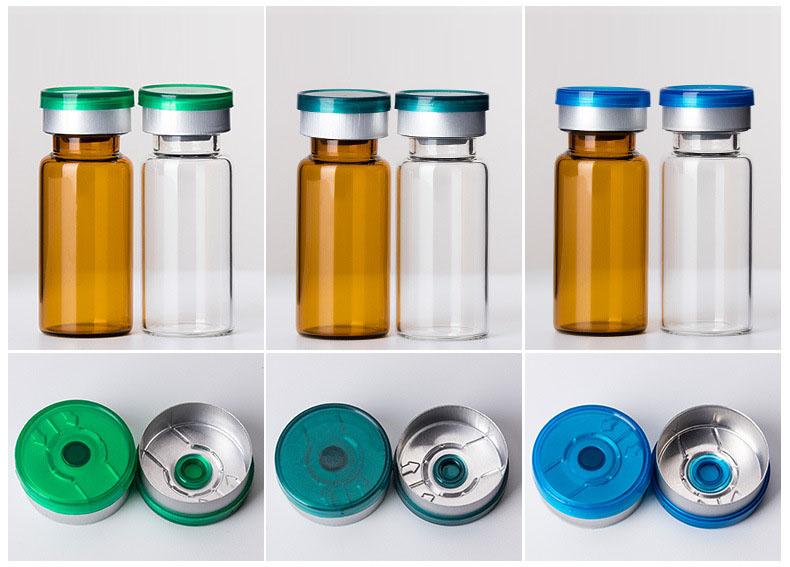 2ml to 30ml crimp neck glass vials with filp top lid  (5)