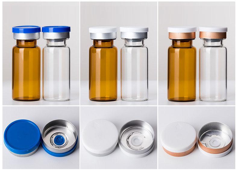 2ml to 30ml crimp neck glass vials with filp top lid  (3)