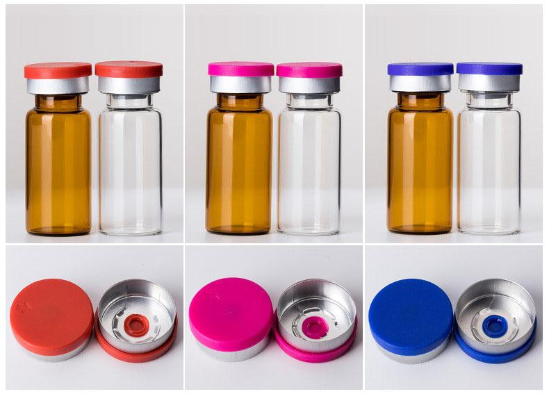 2ml to 30ml crimp neck glass vials with filp top lid  (2)