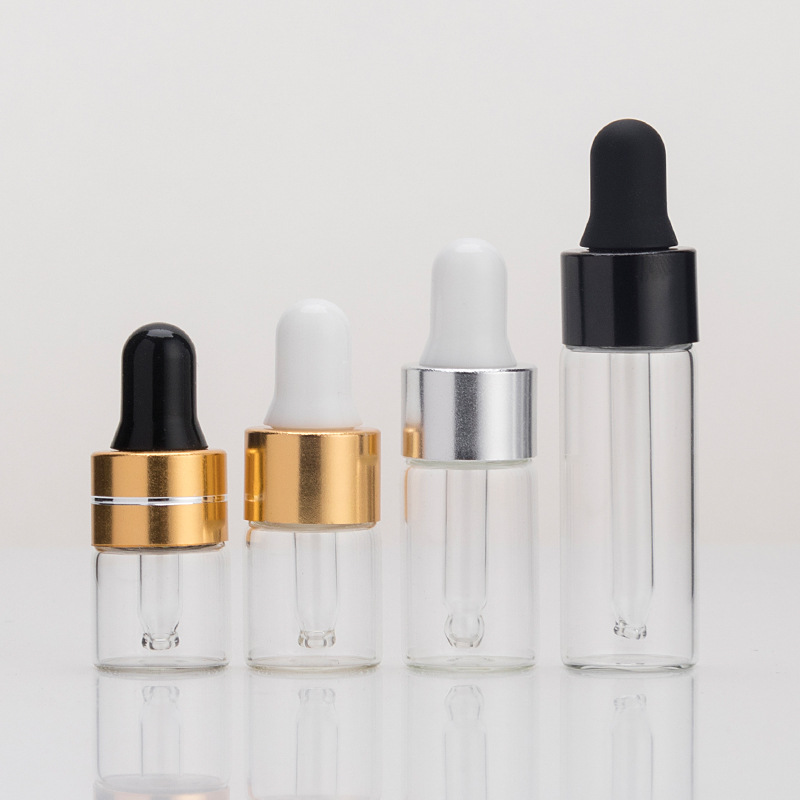 1ml 2ml 3ml 5ml  dropper top glass vials (3)