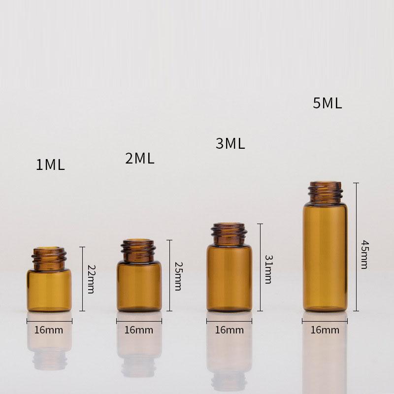 1ml 2ml 3ml 5ml  dropper top glass vials (4)