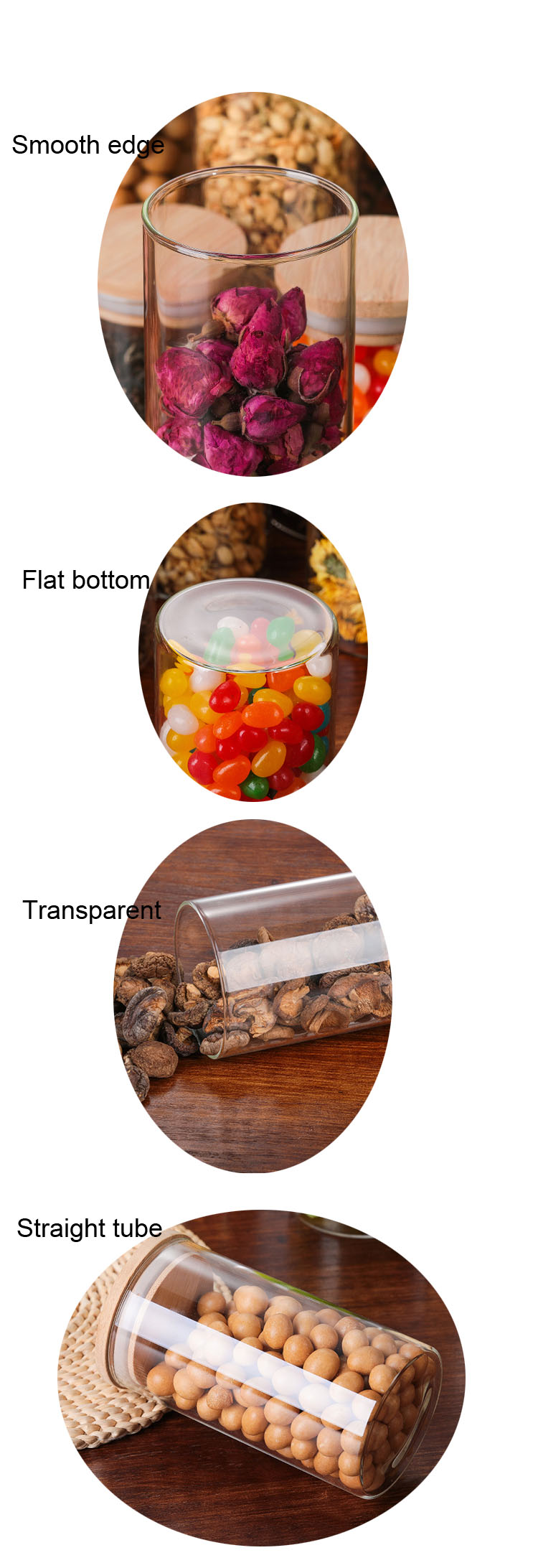 Wholesale and custom made glass jar for packing tea, food, cookier,spice and so on (3)